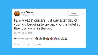 Funny tweets from parents about summer.