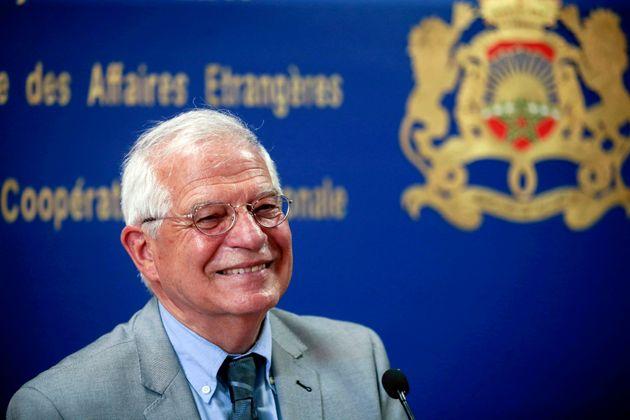 Josep Borrell, el pasado 3 de julio, en una rueda de prensa en Rabat