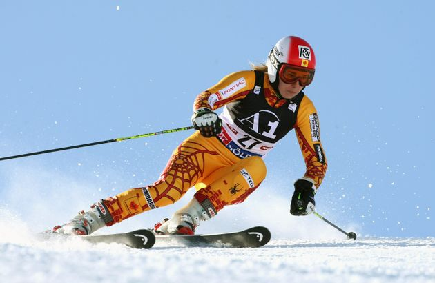 Geneviève Simard lors du slalom géant féminin de la Coupe du monde FIS de ski alpin...