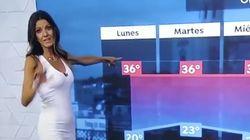 El gran descuido de la presentadora de 'El Tiempo' de Antena