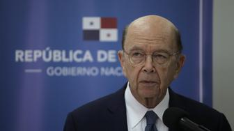 "United States' Secretary of Commerce, Wilbur Ross, gives a press conference before the inauguration of Panama's incoming president Laurentino Cortizo in Panama City on July 1, 2019. - The 66-year-old businessman and cattle rancher, popularly known as ""Nito,"" will serve a single five-year term as head of state of a nation famed for its canal but also notorious for its financial sector which is accused of providing a haven for international tax evasion. (Photo by Mauricio VALENZUELA / AFP)        (Photo credit should read MAURICIO VALENZUELA/AFP/Getty Images)"