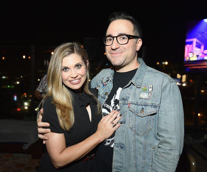 Danielle Fishel and her husband, Jensen Karp, in October 2017.