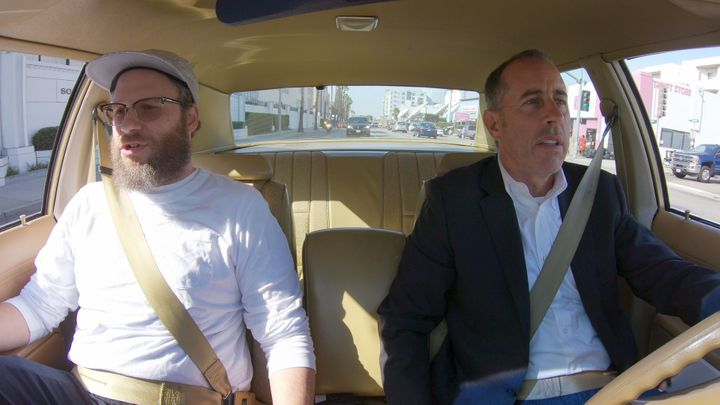 """Seth Rogen and Jerry Seinfeld in the new season of """"Comedians in Cars Getting Coffee."""""""