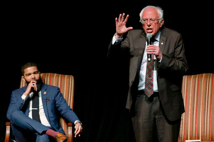 Sen. Bernie Sanders (I-Vt.) criticized Obama's party leadership in an April 2018 speech in Jackson, Mississippi.