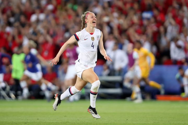 Becky Sauerbrunn at the 2019 FIFA Women's World Cup France Quarter Final match between France and USA on June 28, 2019, in Paris.