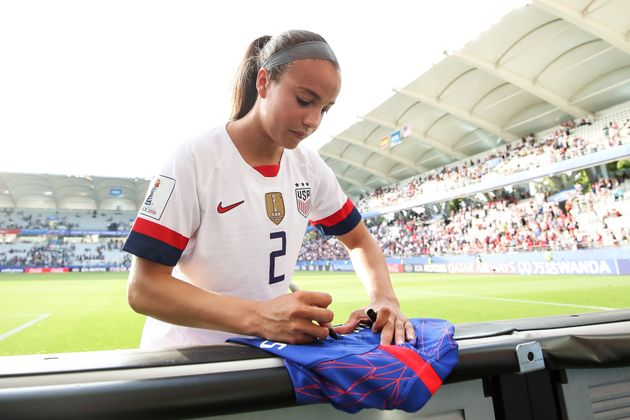 Mallory Pugh after the round of the FIFA Women's World Cup 2019, Coupe de France ...