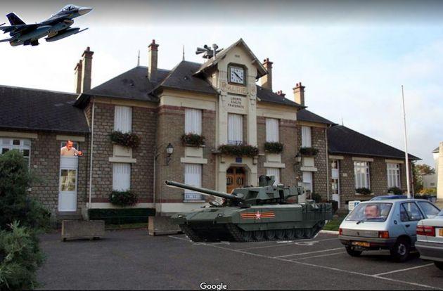 Une des premières photos qui s'affiche lorsque l'on clique sur la mairie d'Issou sur Google