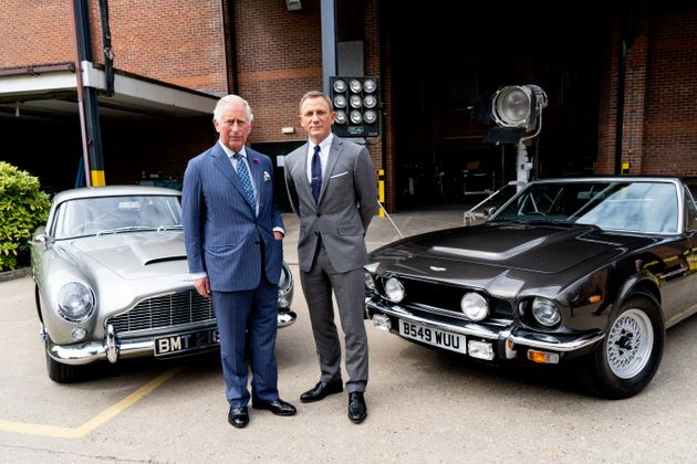 Daniel Craig with Prince Charles on the set of the new
