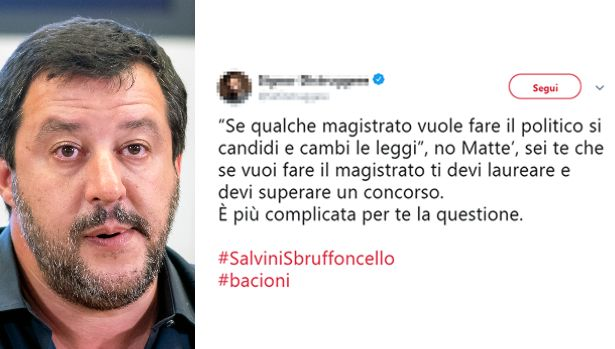 Da #Bacioni a #SalviniSbruffoncello, la rete canzona Salvini dopo la decisione del Gip su