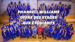 Pharrell Williams offre des stages à 114 étudiants de