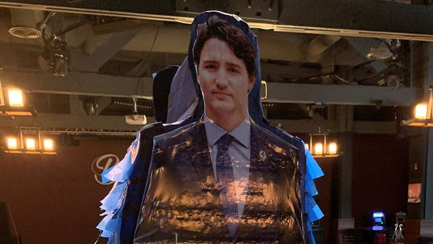The co-owner of a bar in Red Deer, Alta., shared this image of a pinata featuring the image of Prime...