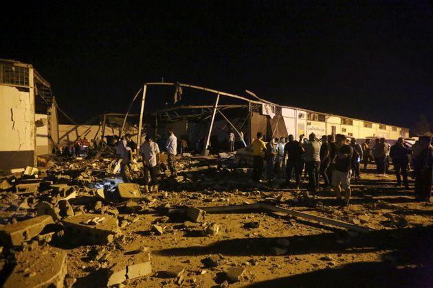 C'est la deuxième fois que ce centre pour migrants de Tajoura est touché depuis le début...