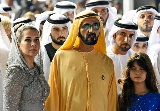Sheikh Mohammed with Princess Haya at the Dubai World Cup horse racing in