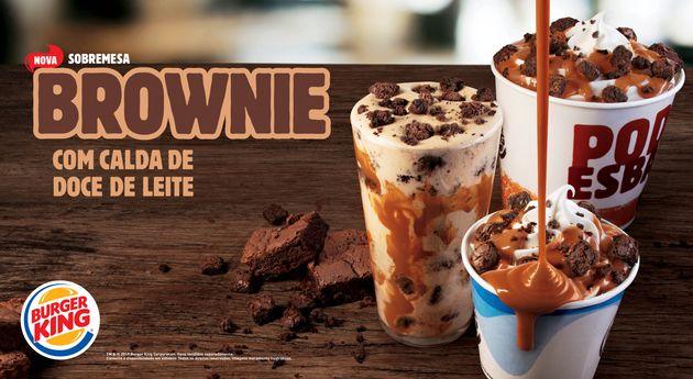 Burger King terá sobremesas com brownie pela 1ª