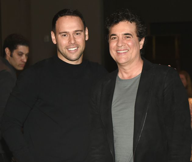 Scooter Braun and Scott Borchetta pictured at an event last