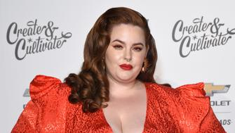 LOS ANGELES, CA - JANUARY 24:  Tess Holliday attends the Create & Cultivate And Chevrolet Launch Event For The Create & Cultivate 100 List on January 24, 2019 in Los Angeles, California.  (Photo by Presley Ann/Getty Images for Create & Cultivate)