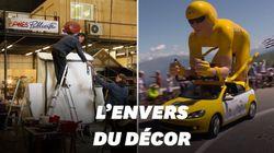 Dans les coulisses de la construction de la caravane du Tour de France