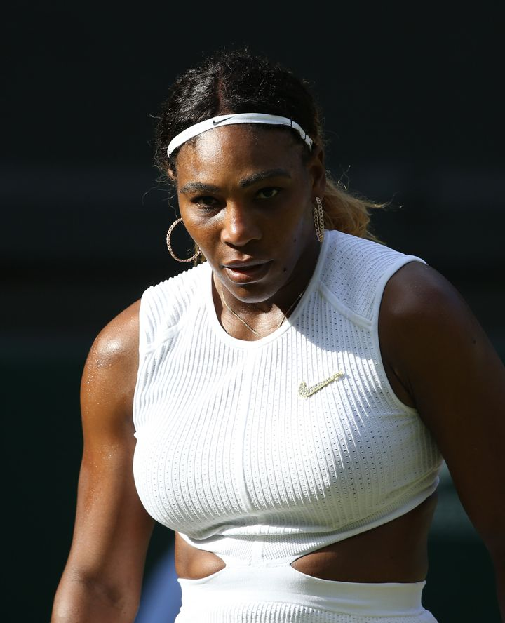 Williams during her match against Giulia Gatto-Monticone in their ladies' singles first round match during Day 2 of Wimbledon