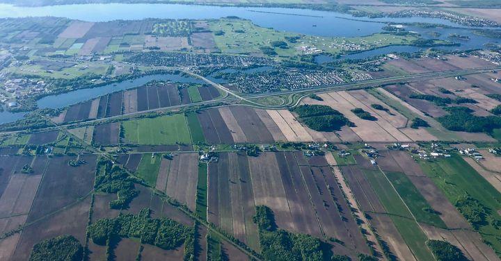 Seulement 2 % du territoire québécois est propice à la culture du sol.