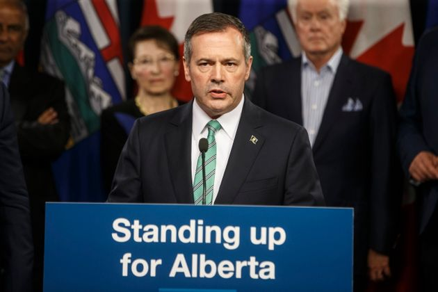 Alberta Premier Jason Kenney provides details about the Alberta Senate Election Act., in Edmonton on...