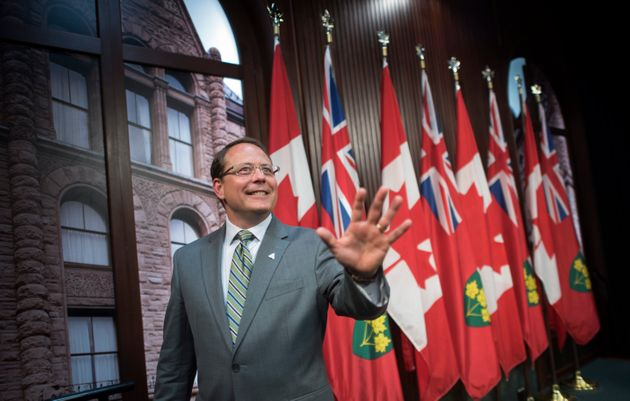 Ontario Green party leader Mike Schreiner holds a first press conference at the Ontario legislature on...