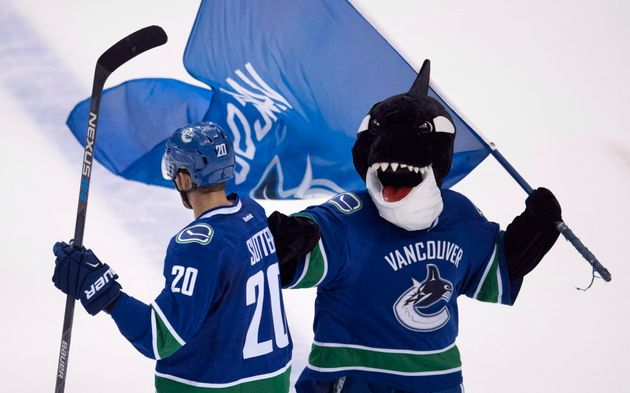 Fin, Vancouver Canucks mascot during a