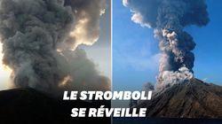 Les images impressionnantes de l'éruption du