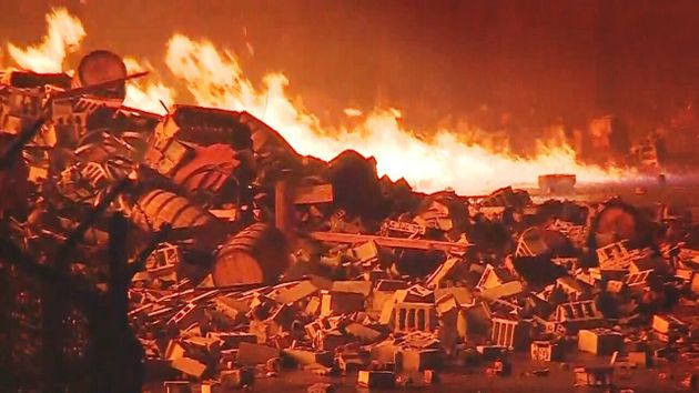 ΗΠΑ: Επεσε κεραυνός και καταστράφηκαν 45.000 τόνοι