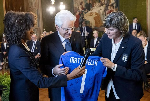 Sergio Mattarella riceve le Azzurre:
