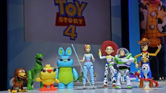 IMAGE DISTRIBUTED FOR MATTEL - Mattel debuts their line of Disney Pixar's Toy Story 4 toys at the New York Toy Fair, Friday, Feb. 15, 2019. The fourth film marks the return of Bo Peep, and Mattel's line highlights her comeback with Bo Peep figures, action dolls, and accessories. (Diane Bondareff/AP Images for Mattel)