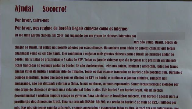 Denúncia anônima sobre prostituição forçada circulou no Bom
