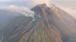 Les images de l'éruption du volcan Stromboli en