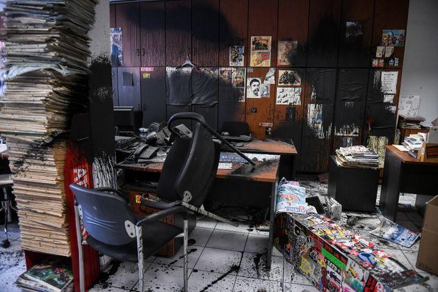 Επίθεση με χαρακτηριστικά λογοκρισίας από τον Ρουβίκωνα στην Athens