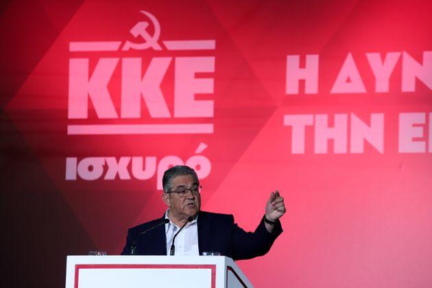 Κουτσούμπας: Να πάρουμε πίσω τη σημαία του ΕΑΜ, του ΕΛΑΣ, που ο ΣΥΡΙΖΑ έβαλε δίπλα σε αυτές του ΝΑΤΟ...