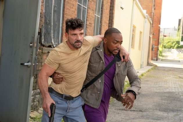 Frank Grillo and Anthony Mackie in