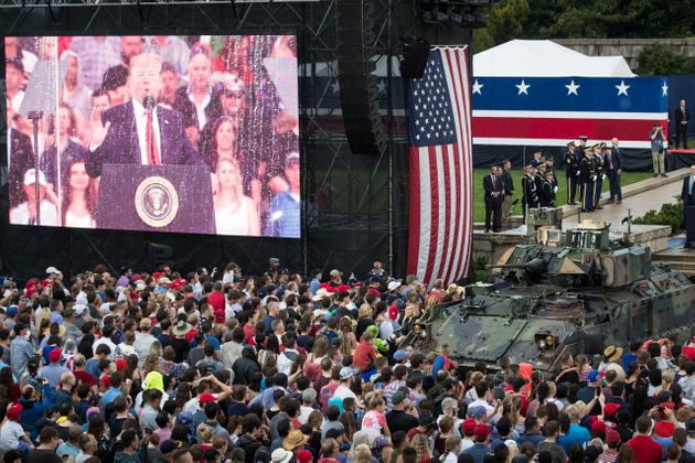 President Whose 'Bone Spurs' Kept Him Out Of War Finally Gets His Tank-Adorned