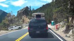 休憩時に、車のサイドブレーキをかけ忘れないで。悲劇の瞬間をドライブレコーダーは捉えた