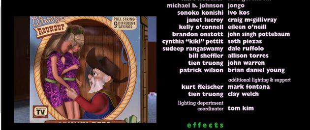 디즈니가 다운로드 버전 '토이 스토리2' 에서 장면 하나를