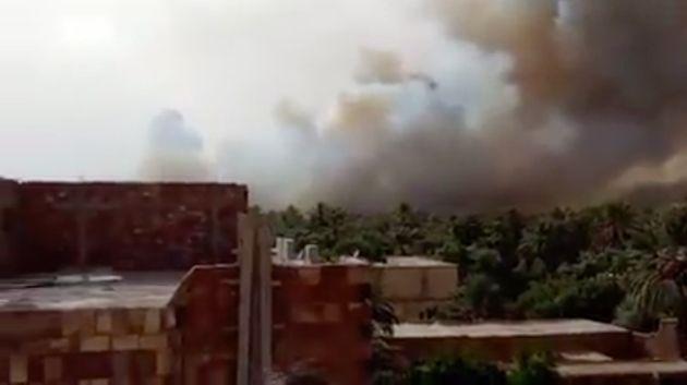 Errachidia: Plus de 2.540 palmiers ravagés par le feu dans l'oasis de Ziz à