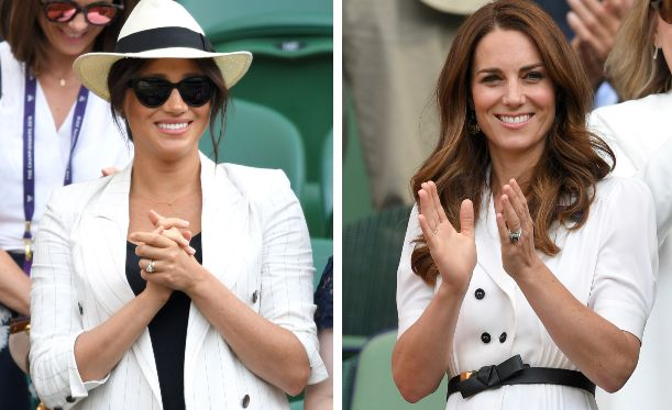 Meghan e Kate divise sugli spalti e nello stile. Le Duchesse arrivano separate a