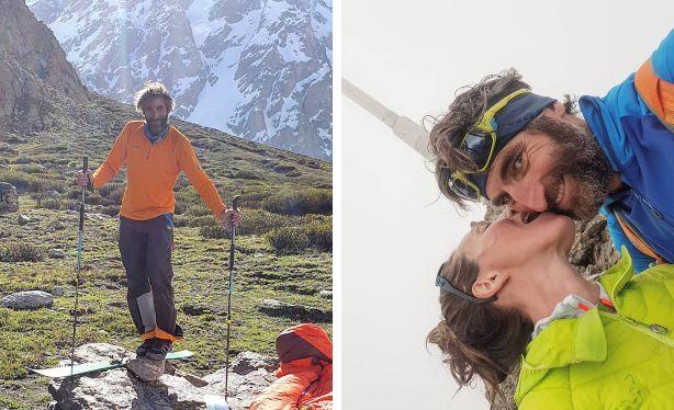 """""""Sono sdraiato in cima al mondo: piango, rido e ti amo"""". La dedica alla moglie dell'alpinista che ha..."""
