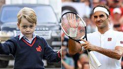 Il principe George prende lezioni di tennis da Federer: