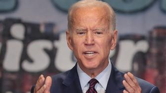 CHICAGO, ILLINOIS - JUNE 28: Democratic presidential candidate, former Vice President Joe Biden speaks to guests at the Rainbow PUSH Coalition Annual International Convention on June 28, 2019 in Chicago, Illinois. Biden is one of 25 candidates seeking the Democratic nomination for president and the opportunity to face President Donald Trump in the 2020 general election.  (Photo by Scott Olson/Getty Images)