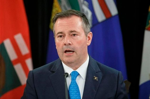 Alberta Premier Jason Kenney is seen here in Edmonton on June 27,