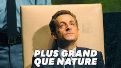 Les subterfuges pour grandir Sarkozy avant l'escalier de