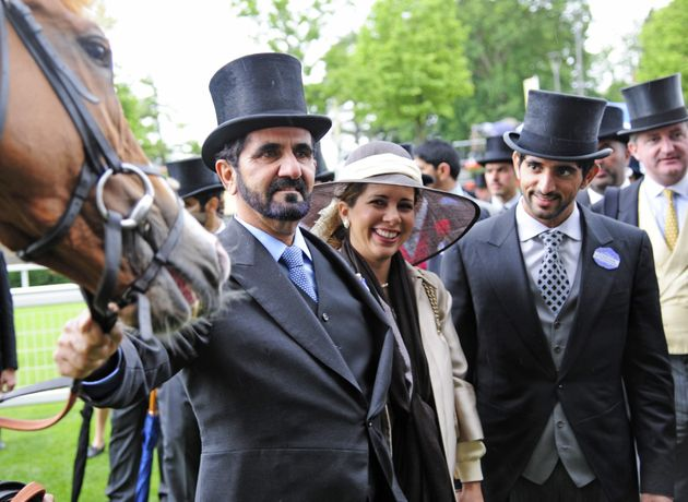 The couple after her horse Beachfire won The Wolferton Handicap Stakes at the Royal Ascot race meeting...