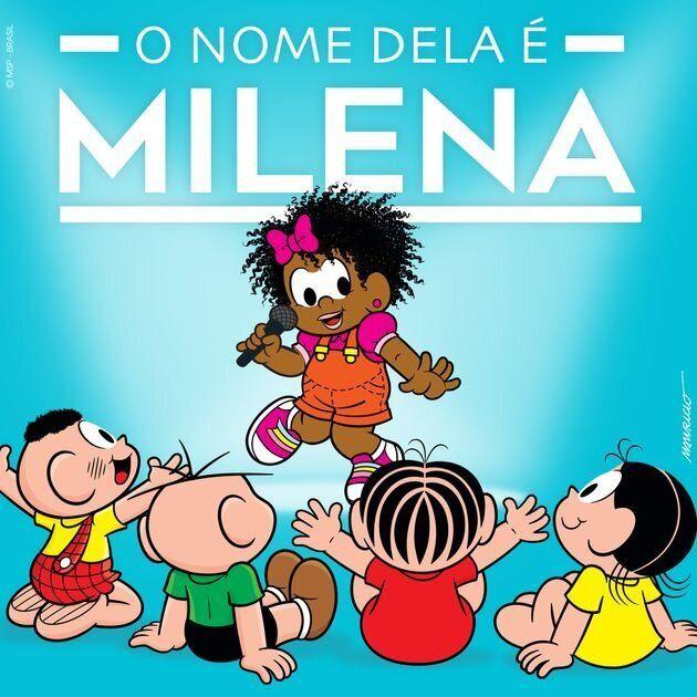 Milena, a primeira personagem feminina negra da Turma da Mônica, estreou nas HQs de Maurício...