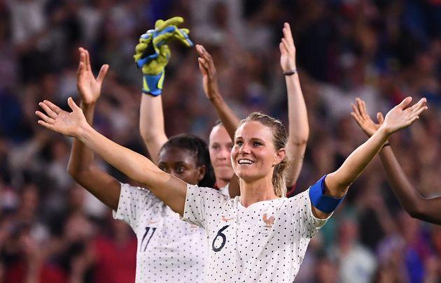 Amandine Henry lors de la victoire contre le Brésil en huitième de finale de la Coupe du...