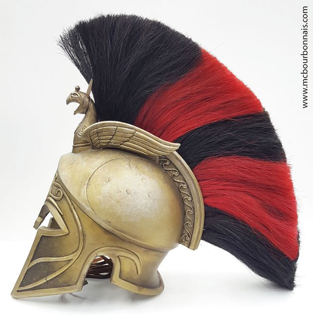 Casque de l'hoplite grec d'Assassin's Creed Odyssey, avec du crin de cheval