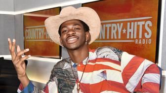 LONDON, ENGLAND - JULY 04: Lil Nas X visits the Country Hits Radio studios on July 04, 2019 in London, England. (Photo by HGL/Getty Images,)